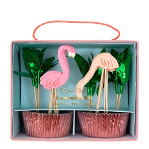 Flamingo Cupcake Kit (24lü)