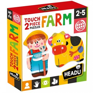 HEADU 2 PIECES PUZZLE TOUCH FARM (2-5 YAŞ)